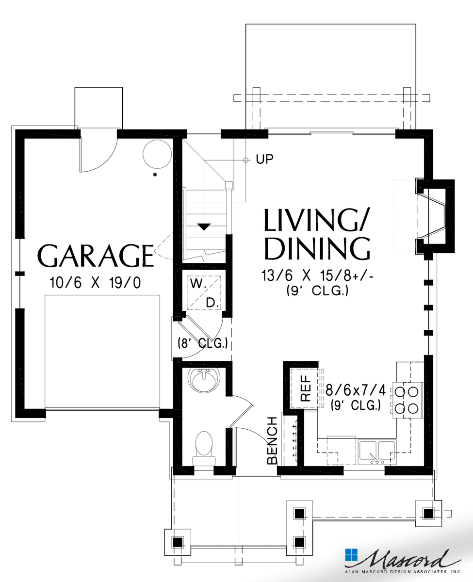 Drawing door cute. Main floor plan of