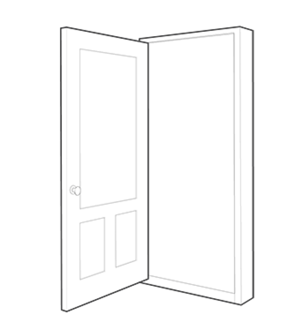 drawing doors interior door