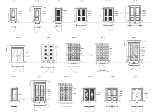 Dwg free cad blocks. Drawing doors free stock
