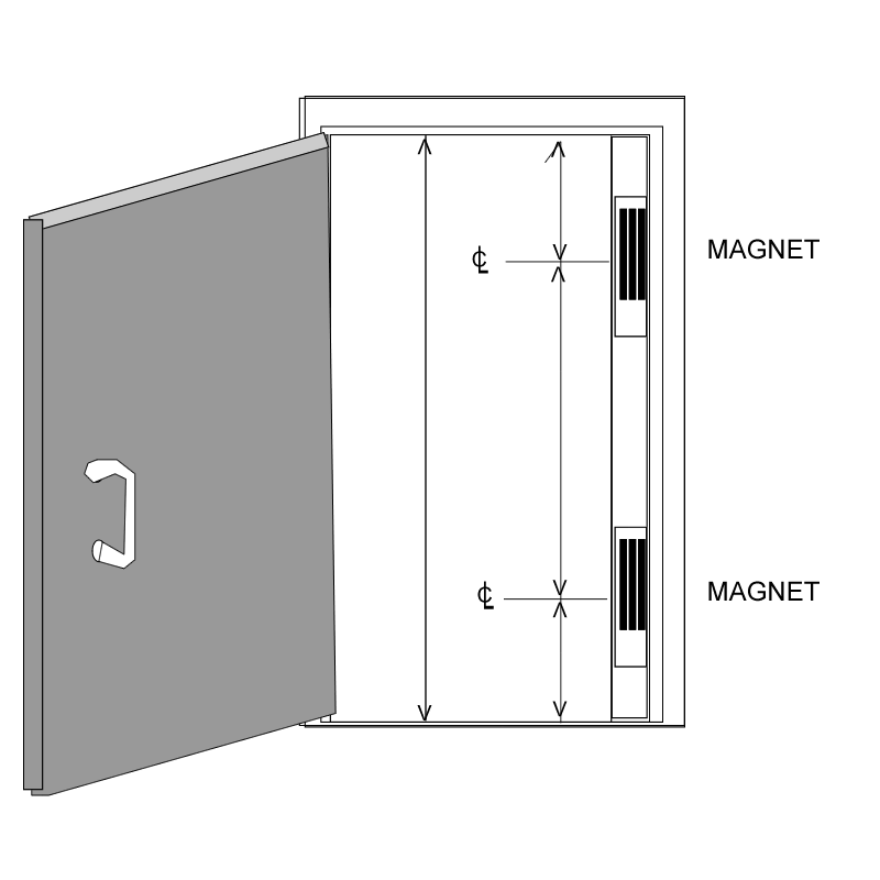 Drawing doors classroom door. Access control hardware genius