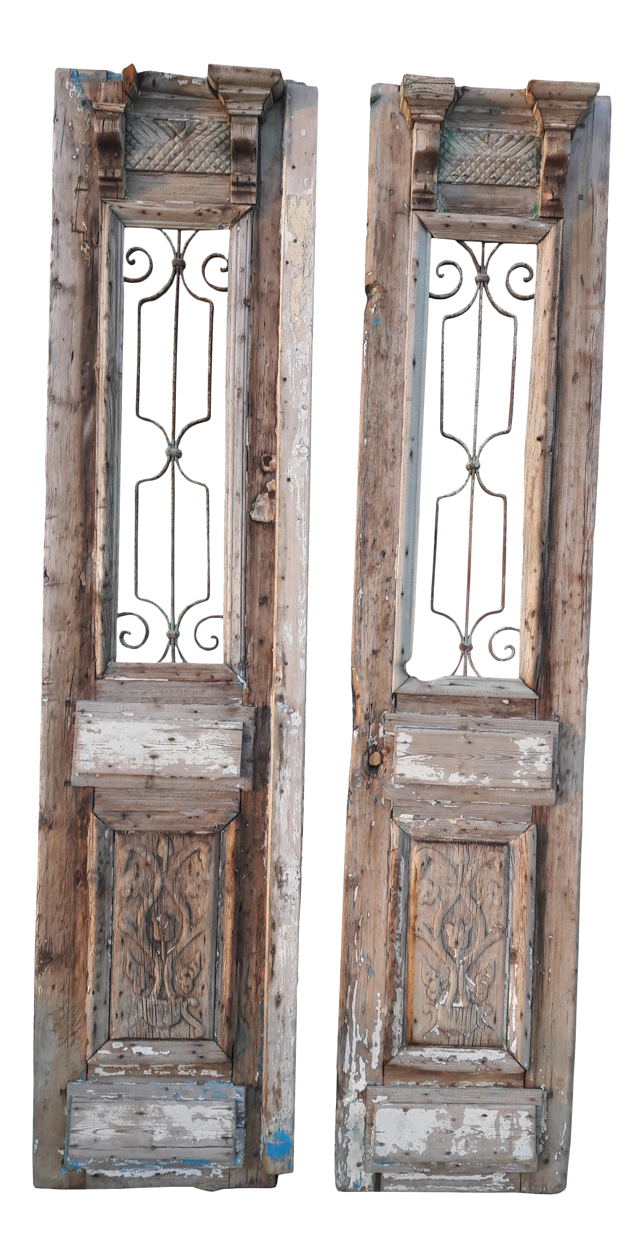 Drawing doors vintage door. Antique french large architectural