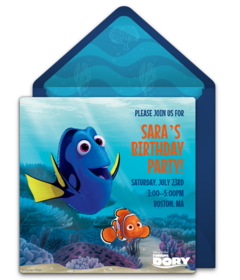 Drawing dory cute. Free toddler birthday online