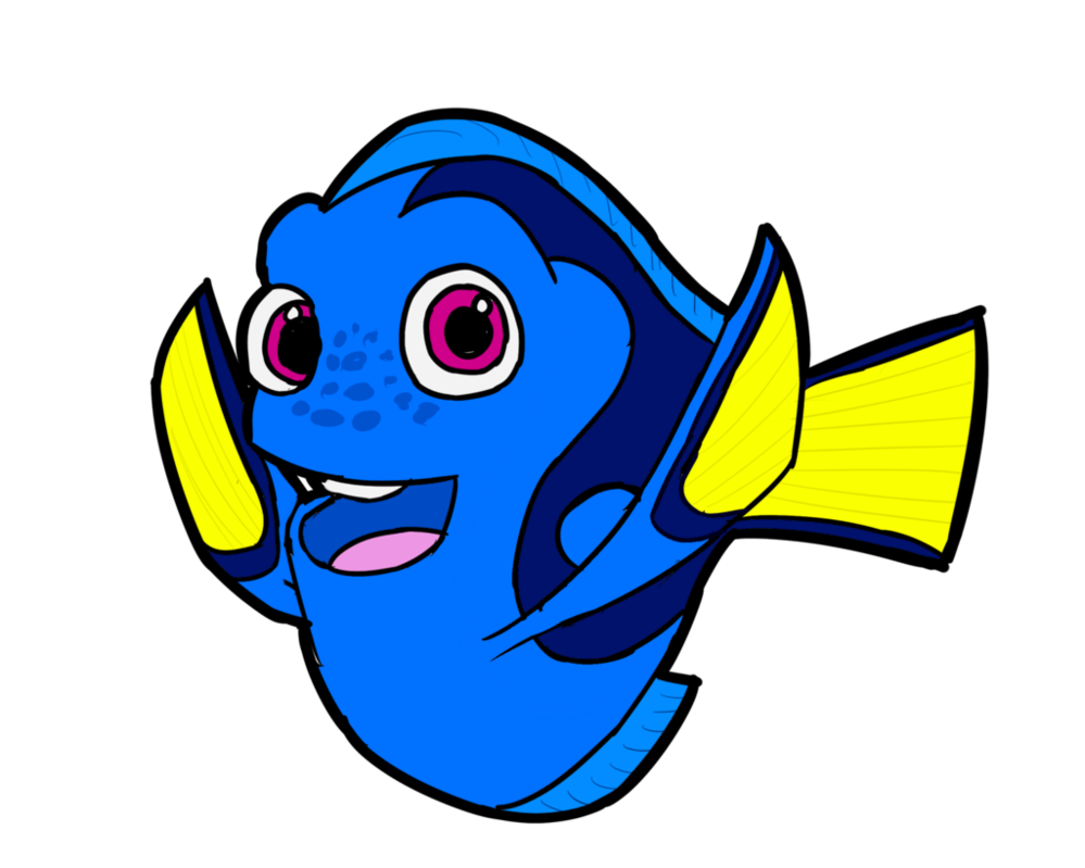 Drawing dory just keep swimming. By xelaalex on deviantart