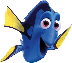 Drawing dory just keep swimming. Clip black and