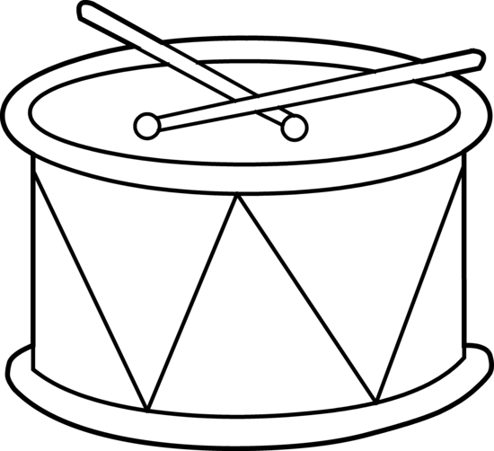 Drawing drums clipart. Instrument snare drum pencil
