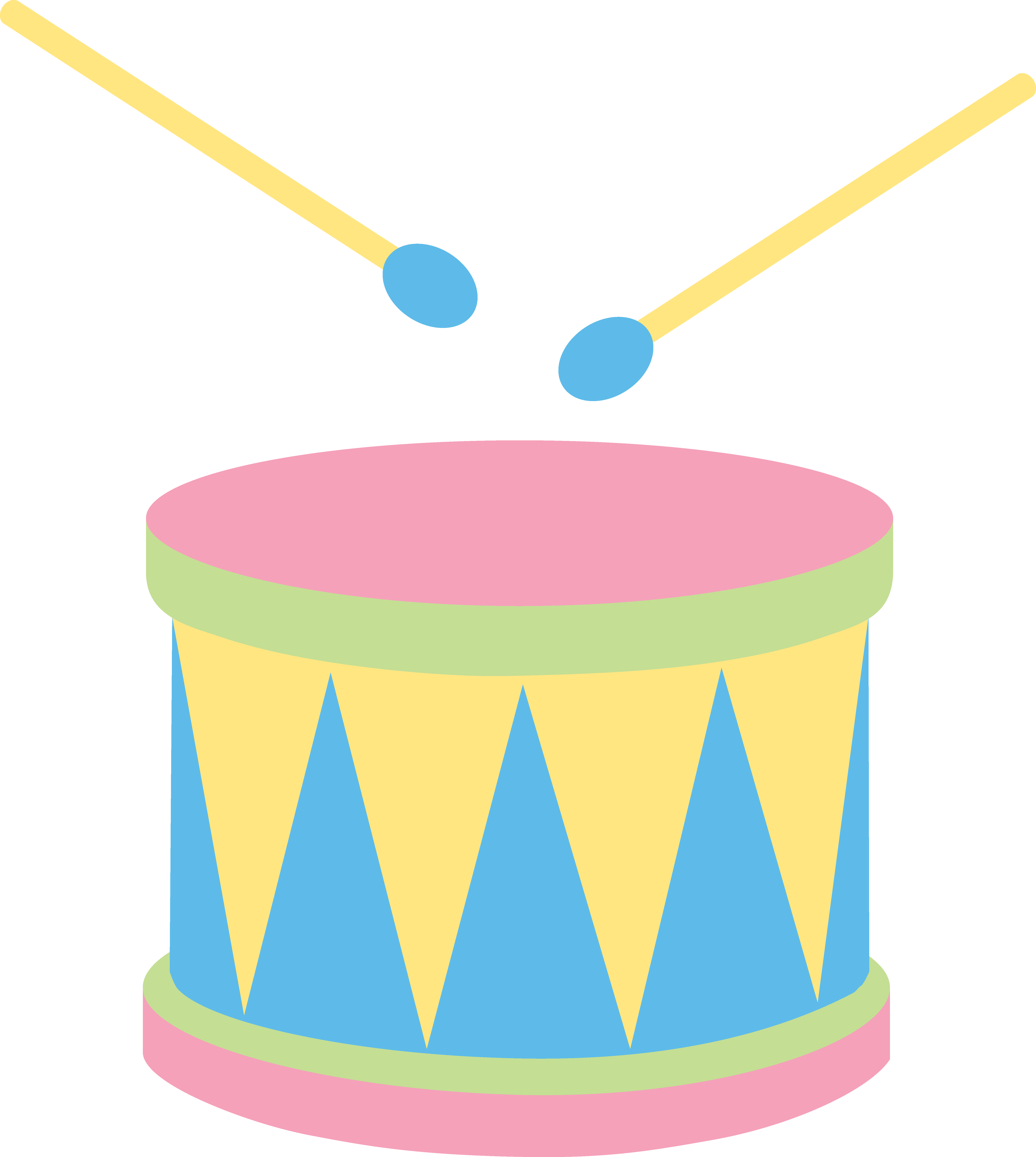 Drawing drums cute. Clipart colored frames illustrations