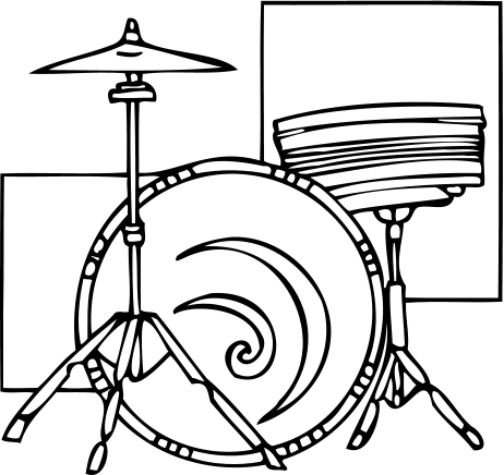 Drawing drums drumset. Pc drummer create professional