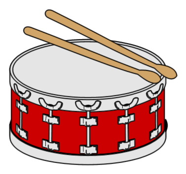 Drawing drums tambol. Clipart station