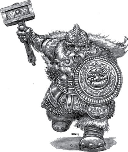 Drawing dwarves. Dwarf warrior http www