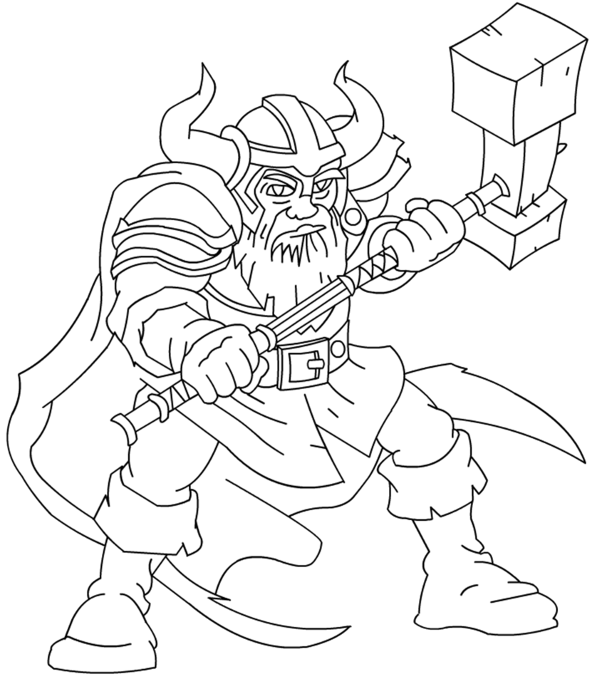 Dwarf warrior line art. Drawing dwarves clip black and white library