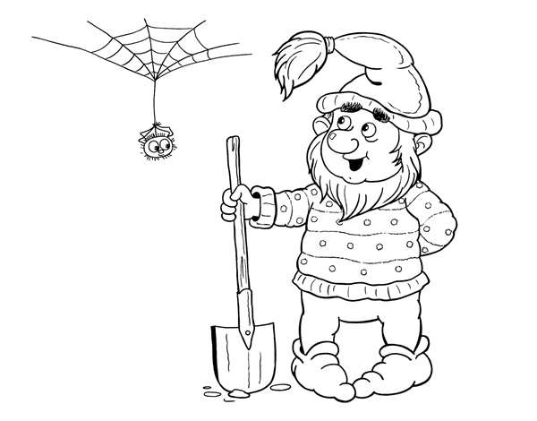 Drawing dwarves heads. Dwarf miner coloring page