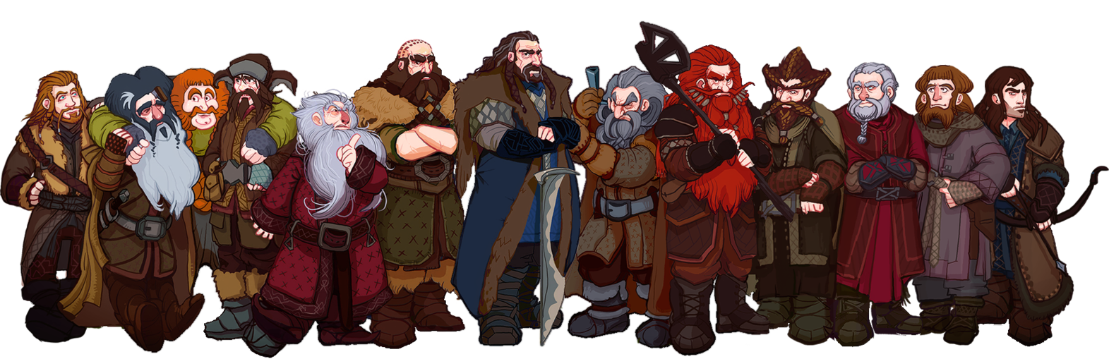Drawing dwarves hobbit. The thorin and company svg freeuse
