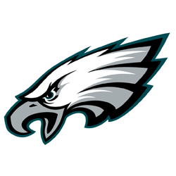 Drawing eagles front face. Branded in memory nfl