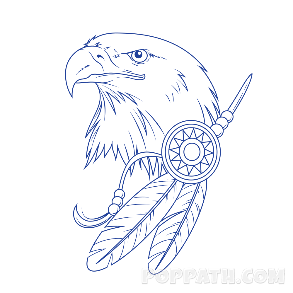 Drawing eagles graffiti. How to draw an