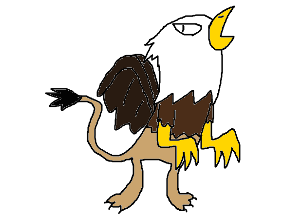Drawing eagles mythical. Creature griffin by jason