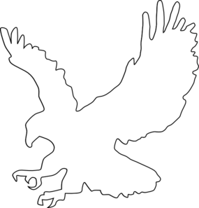 Drawing eagles outline. American eagle clip art