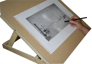Drawing easels. Drawn boar easel pencil