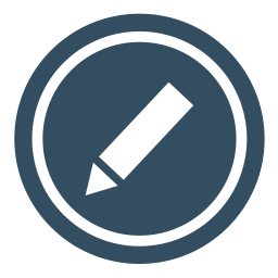 Drawing editing. Pencil icon myiconfinder