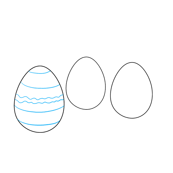 Oval drawing egg. How to draw easter