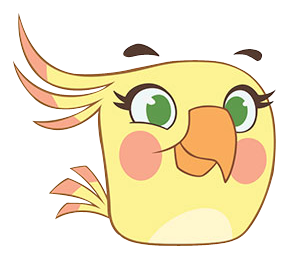 silver drawing angry bird
