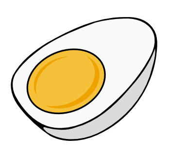 Drawing egg boiled. Collection of high
