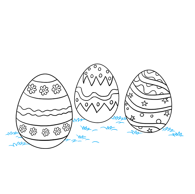 Cracked drawing easter egg. How to draw eggs