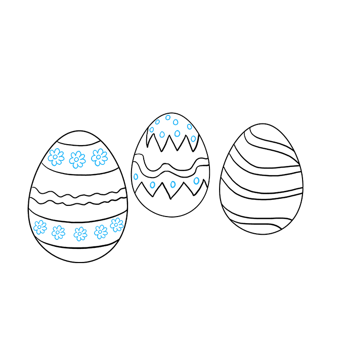 Drawing egg pencil. How to draw easter