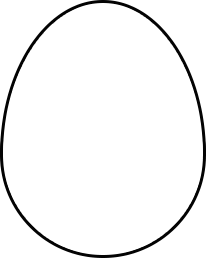 Oval drawing egg. How to create shape