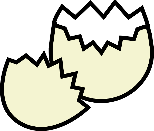 Drawing egg shell. Collection of free cracking