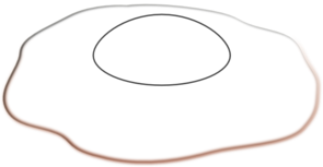 Drawing egg sunny side up. Collection of clipart