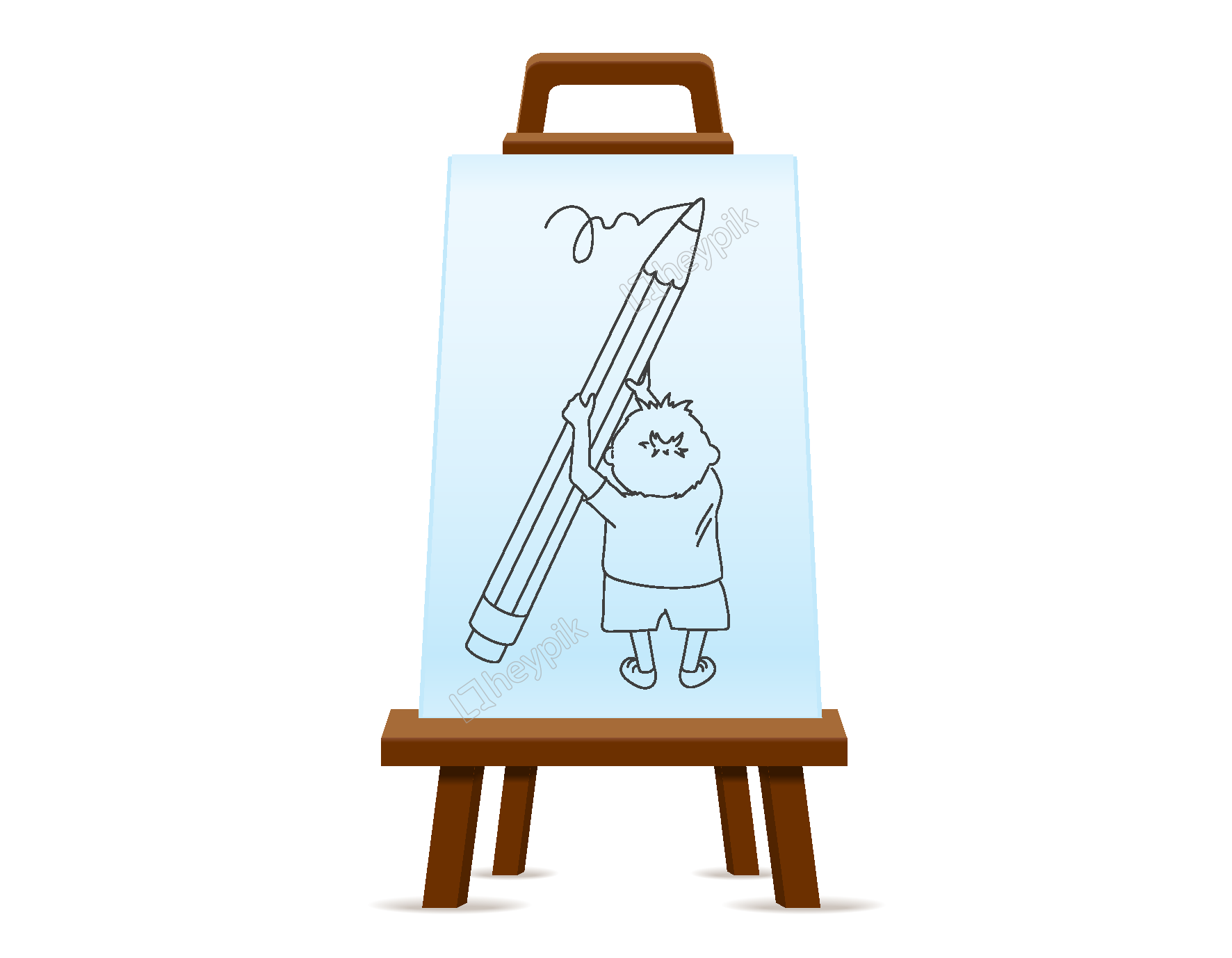 Drawing elements png. Hand painting frame free