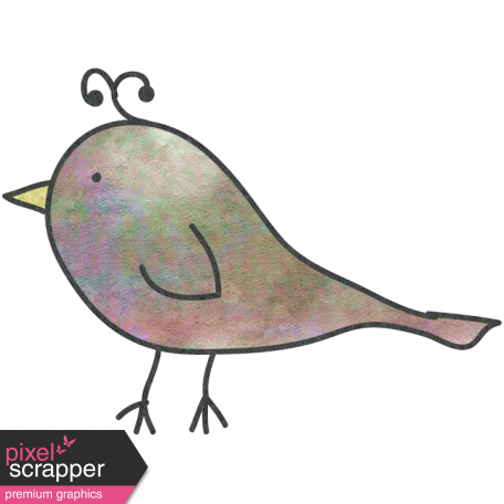 Doodled graphic by janet. Drawing elements bird transparent library