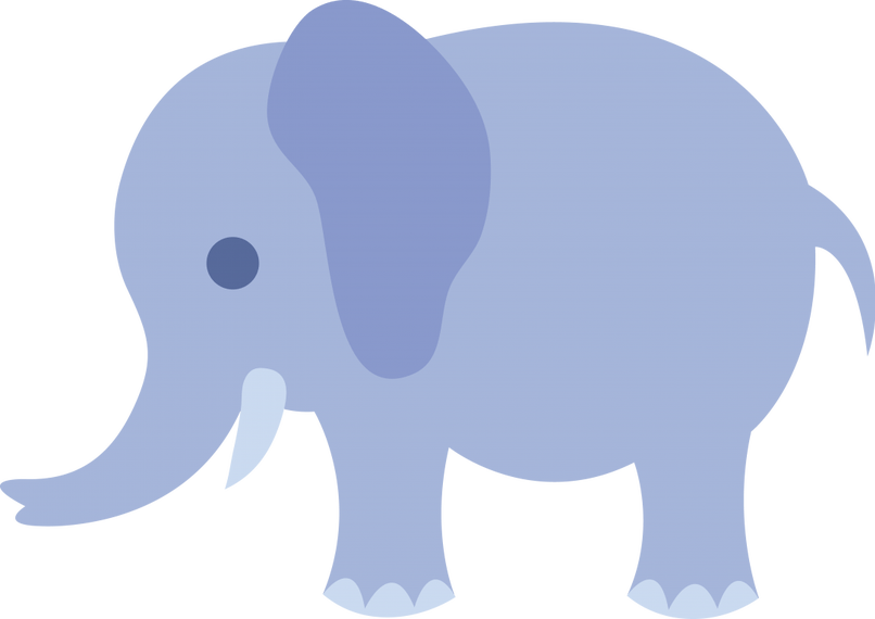 Cute baby elephant cartoon. Drawing elephants adorable black and white library
