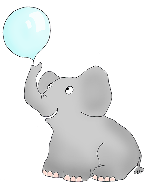 Drawing elephants adorable. Elephant clip art blowing