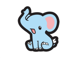 Drawing elephants chibi. Elephant cuteanimations drawings pinterest