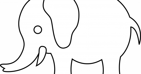 Drawing elephants easy. Simple elephant baby and