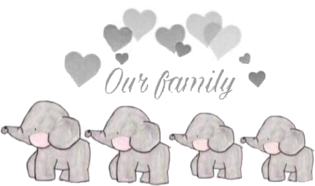Drawing elephants family. Elephant ourfamily grey lovefreetoedit