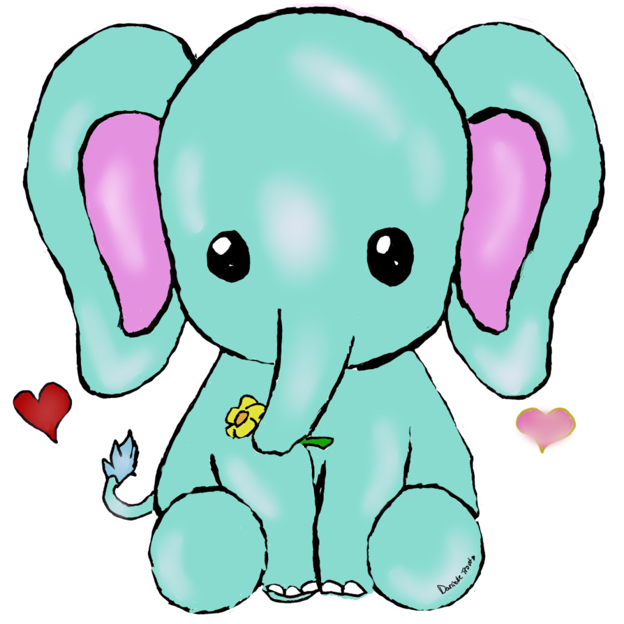 Drawing elephants kawaii. Elephant by uniquecomedy on
