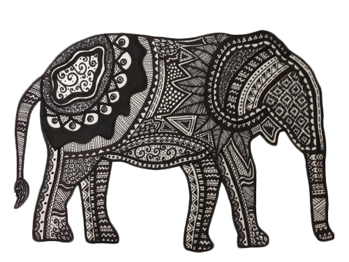Tangle drawing elephant. Hippie lol hippies pinterest
