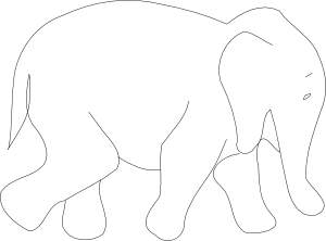 Elephants svg shape. Elephant outline clip art