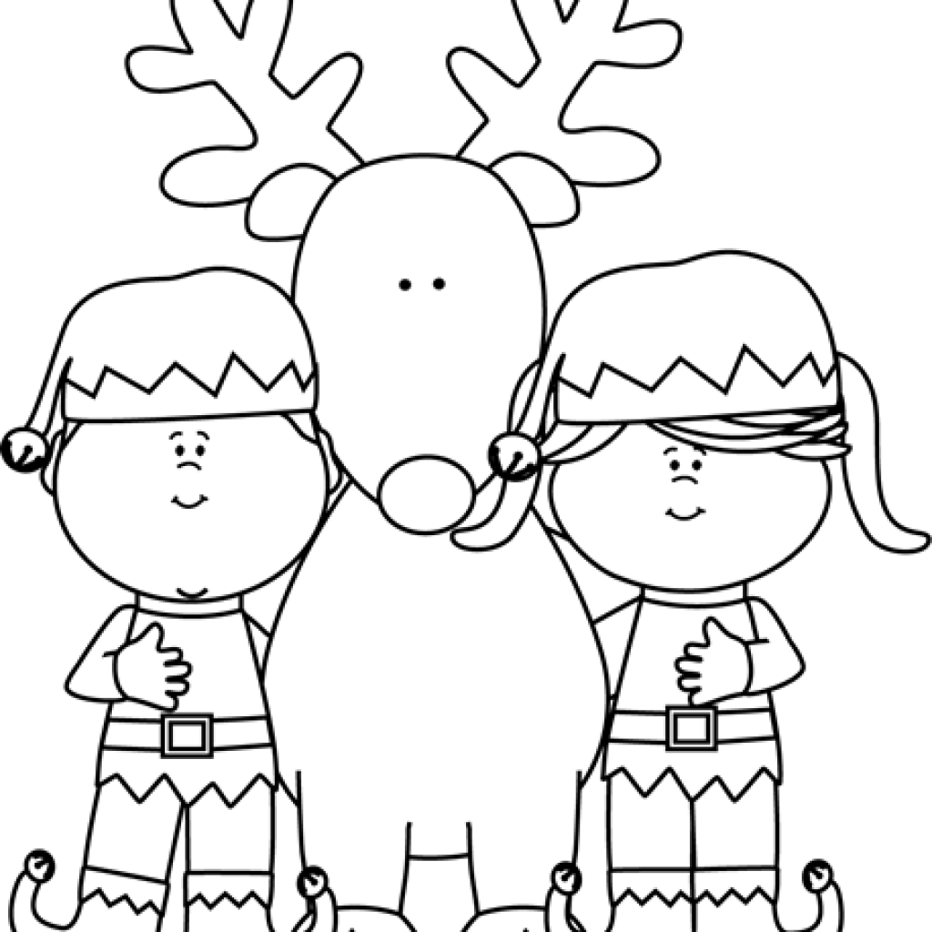 Elf clipart black and white. Free download elves with