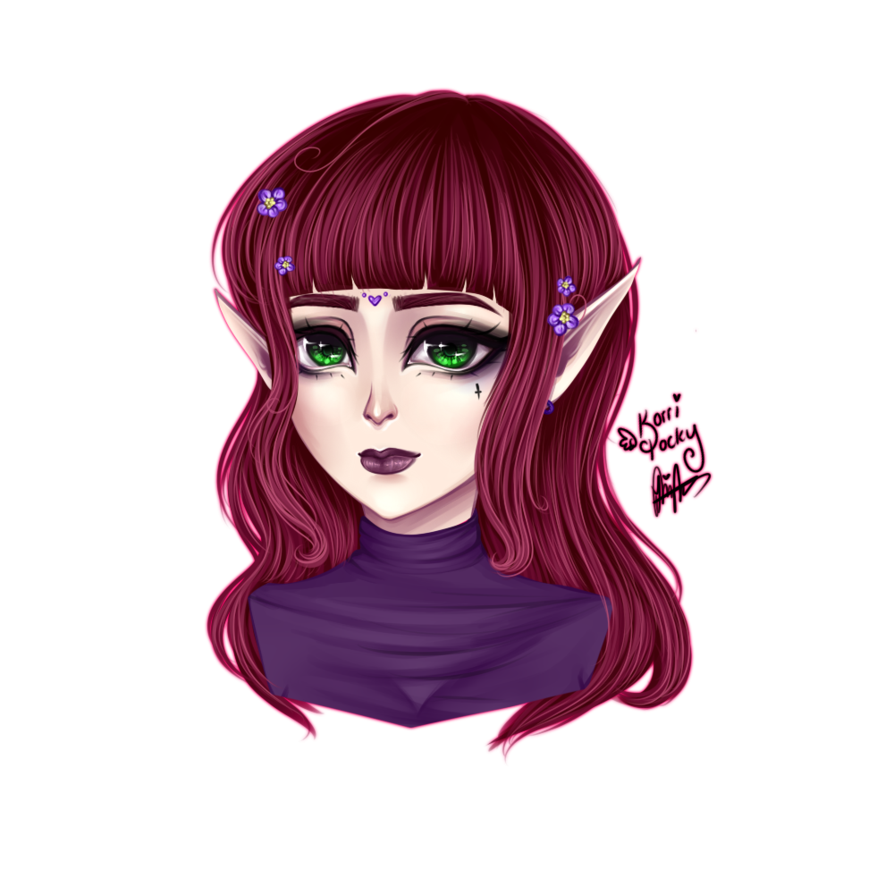 Drawing elves hairstyle. Random elf thing by