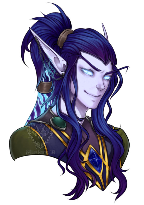 Drawing elves world warcraft. Warsonghold commission by misslunacrest