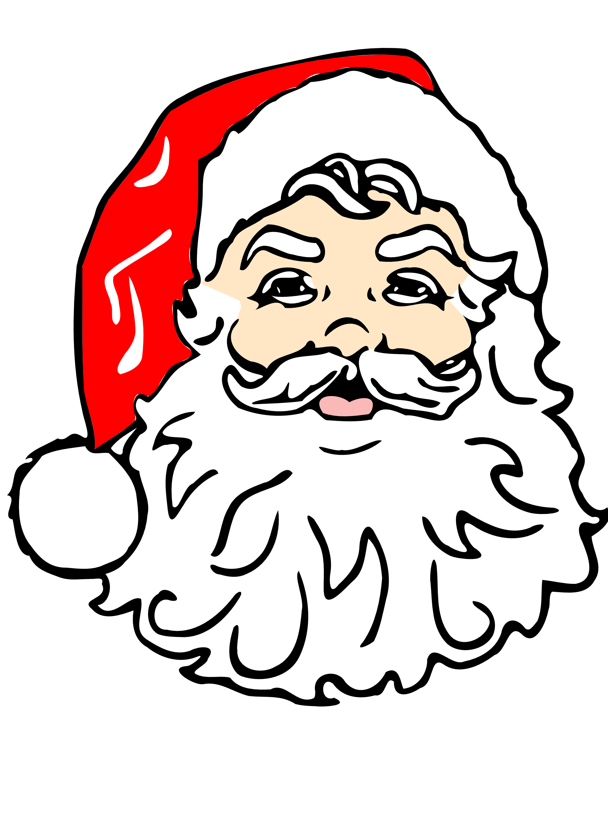 Drawing elves santa. Clip art with his