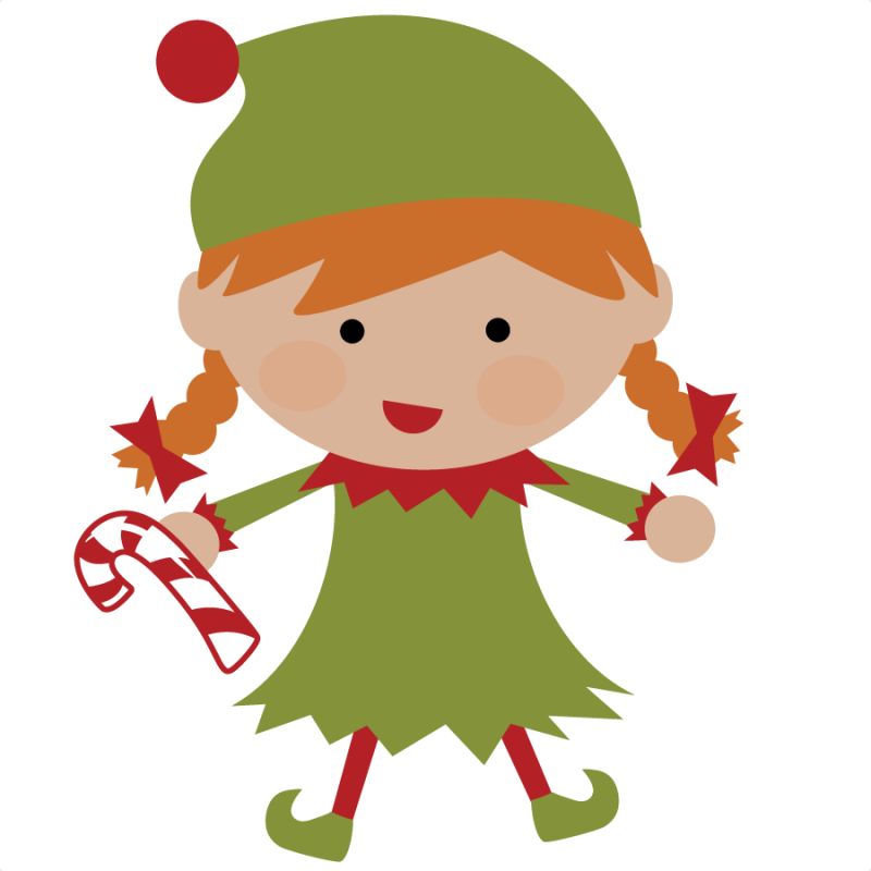Drawing elves sweet. Christmas elf svg file