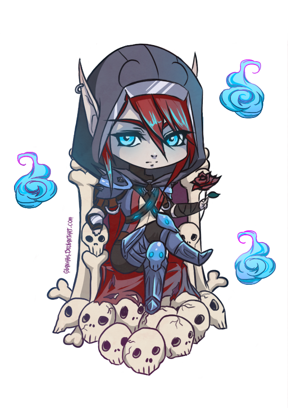 Chibis drawing art. Wow chibi death knight