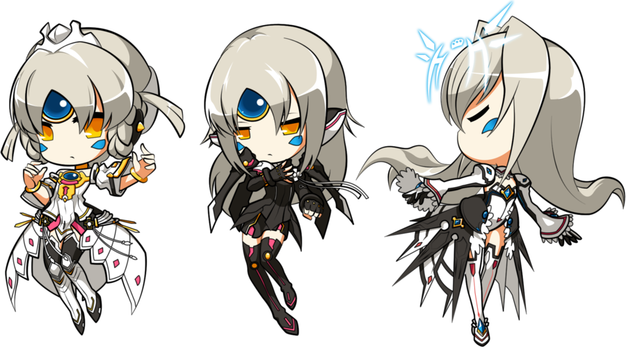 Drawing evolution. Elsword queen s by