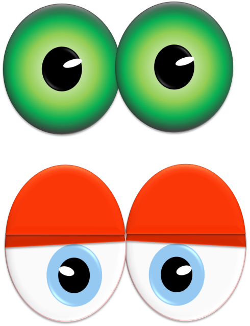 Drawing eyeballs monster. Throw a eyes party