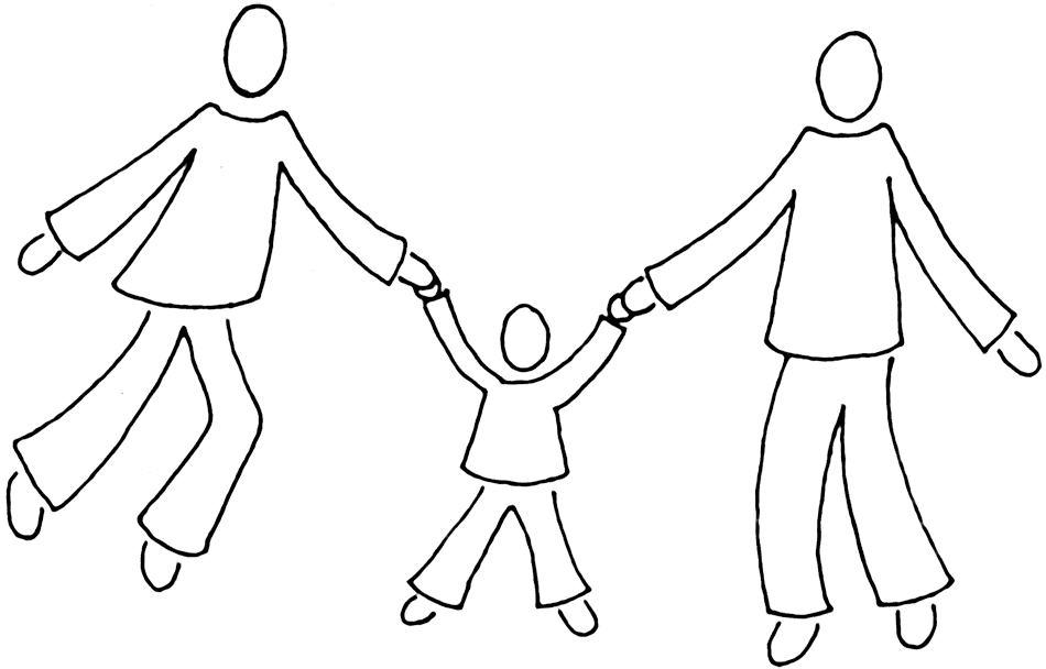 Drawing family person. Abstract for free