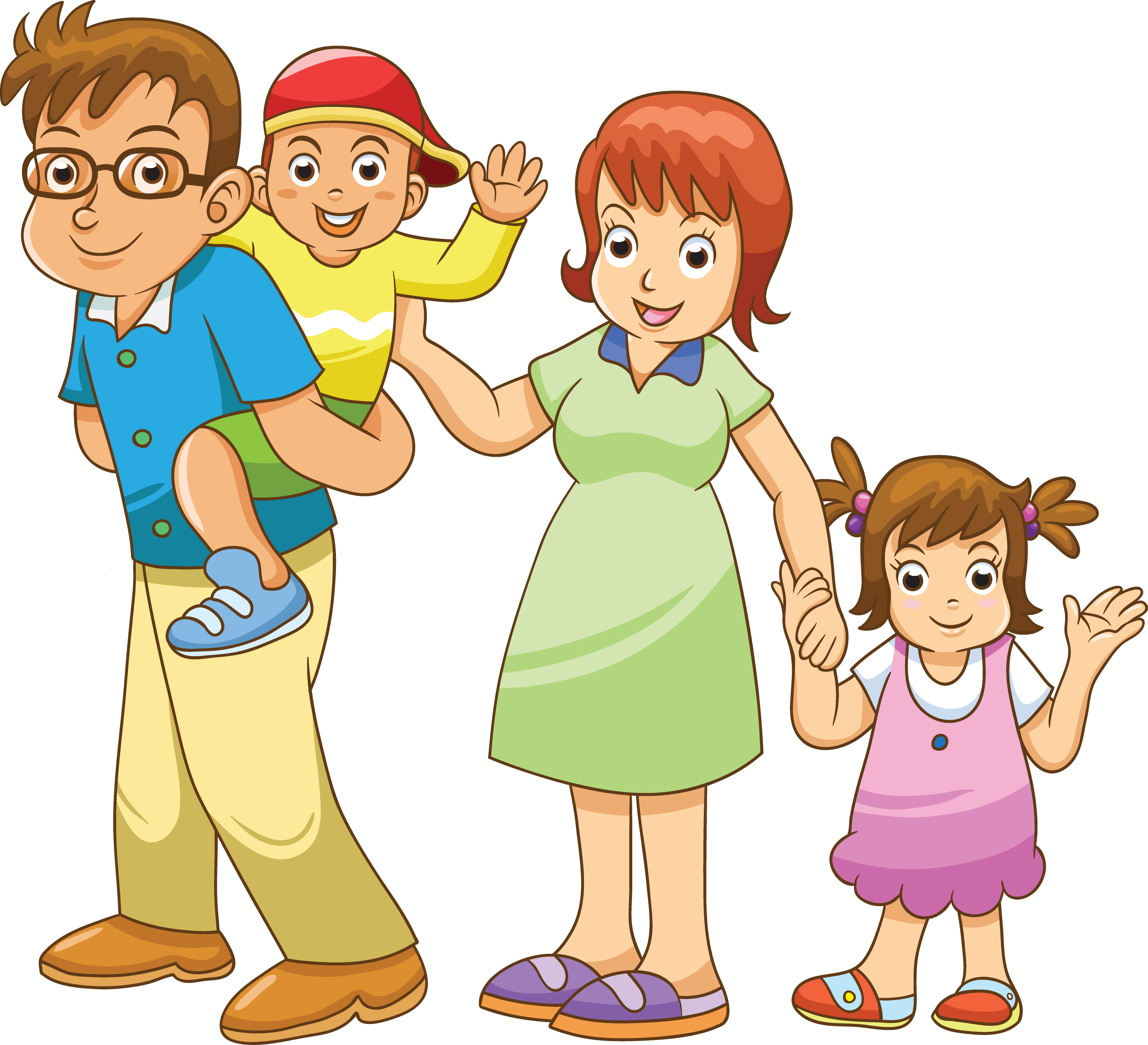 Drawing family cartoon. Transprent png free download
